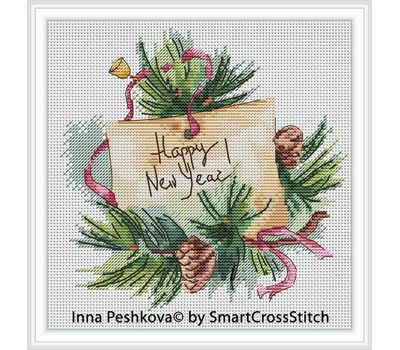 Squirrel and Bee Cross stitch chart