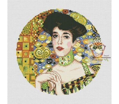 Adele Bloch-Bauer by Klimt cross stitch chart