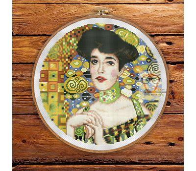 Adele Bloch-Bauer by Klimt cross stitch pattern