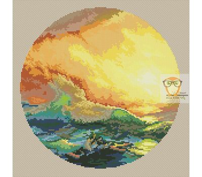 Ninth Wave cross stitch se pattern