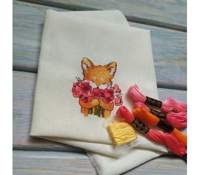Round Cross stitch pattern Cute Fox}