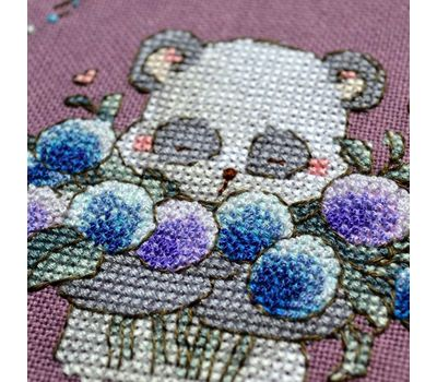 Round Cross stitch pattern Cute Panda}