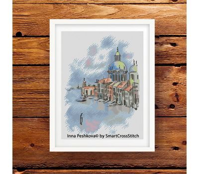 Santa Maria Cathedral Cross stitch pattern