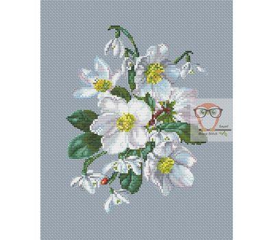 Snowdrops Cross stitch pattern}