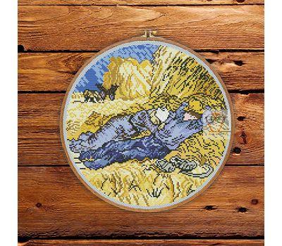 Van Gogh cross stitch pattern Harvesters