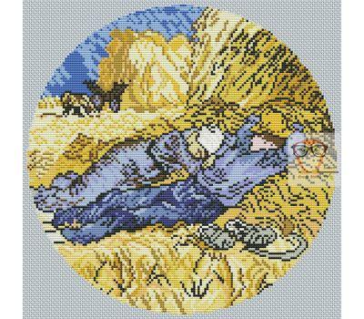 Van Gogh cross stitch chart Harvesters