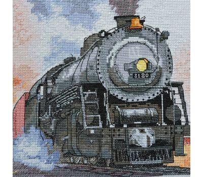 Train cross stitch chart