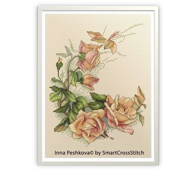Vintage Roses cross stitch chart