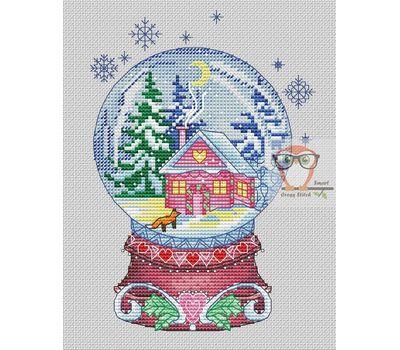 Winter Cross stitch pattern Snow Ball}