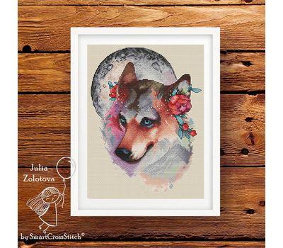 Wolf The Moon Keeper Cross stitch pattern