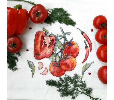 Peppers and tomatoes Kitchen Cross stitch pattern