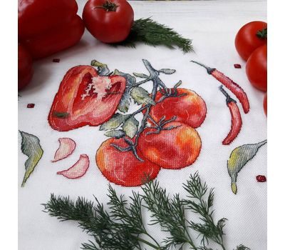 Peppers and tomatoes Kitchen Cross stitch chart