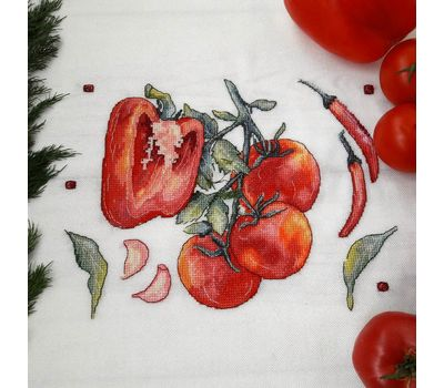 Peppers and tomatoes Kitchen Cross stitch pattern ready work