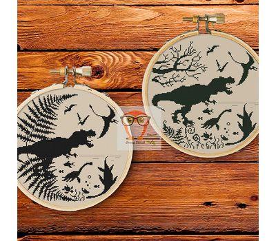 Dinosaurs Prehistoric world cross stitch two patterns