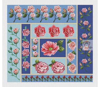 Roses Ornament cross stitch chart