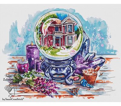 The Enchanted House  in Snall Ball Fantasy Cross stitch pattern