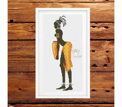 African Woman #5 cross stitch pattern