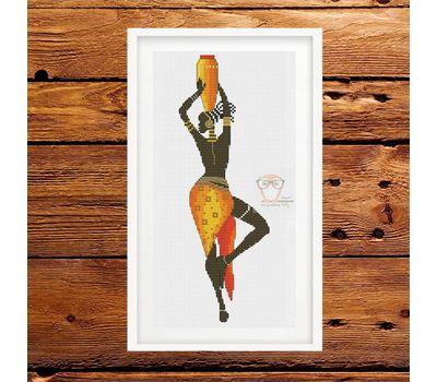 African Woman #6 cross stitch pattern