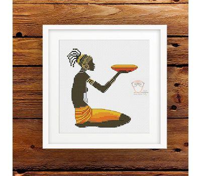 African Woman #2 cross stitch pattern