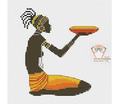 African Woman #2 cross stitch chart