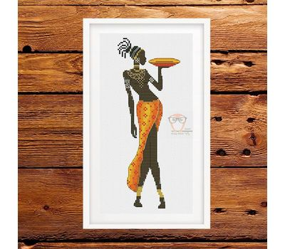 African Woman #3 cross stitch pattern