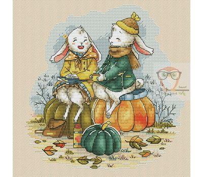 Autumn Bunnies Fantasy cross stitch chart