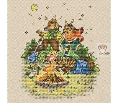 Autumn Deer Fantasy cross stitch chart