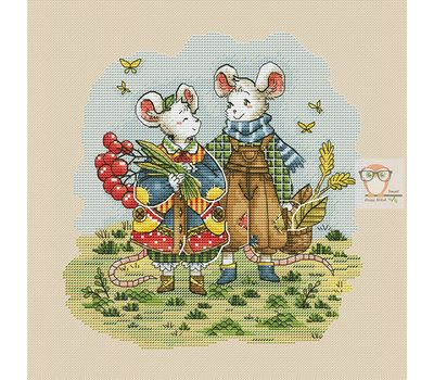 Autumn Mice Fantasy cross stitch chart