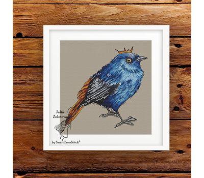Blue Bird Prince Cross Stitch Pattern