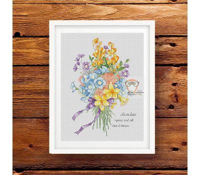 Flower Bouquet Free Cross Stitch Pattern