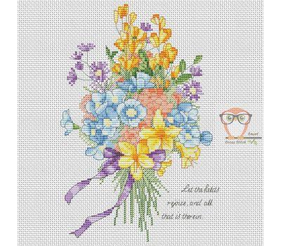 Flower Bouquet Free Cross Stitch chart