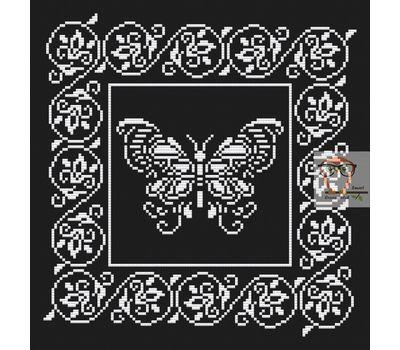 Lace Butterfly Ornament Free cross stitch chart