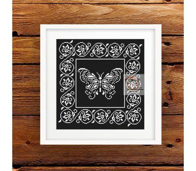 Lace Butterfly Ornament Free cross stitch pattern