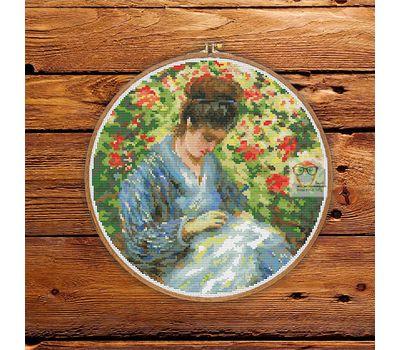 Madame Monet by Camille Monet  cross stitch pattern