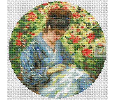 Madame Monet by Camille Monet  cross stitch chart