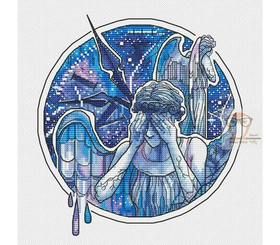 Doctor Who cross stitch chart Crying Angels