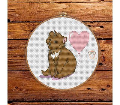 Cute Bear Free cross stitch pattern