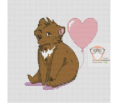 Cute Bear Free cross stitch chart