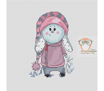 Little Pink Bunny Cross stitch chart