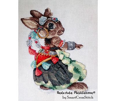 Gypsy Mouse the Dancer cross stitch chart