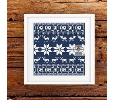 Deer Cushion Ornament free cross stitch pattern