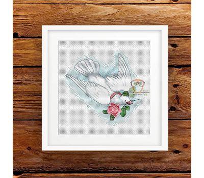 Wedding Dove free cross stitch pattern