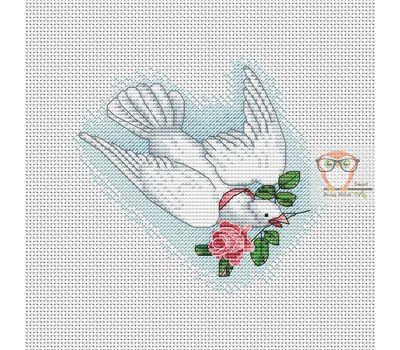 Wedding Dove free cross stitch chart