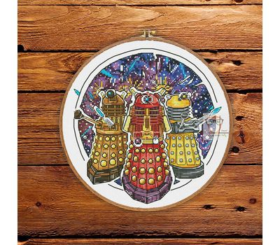 Doctor Who cross stitch pattern Daleks