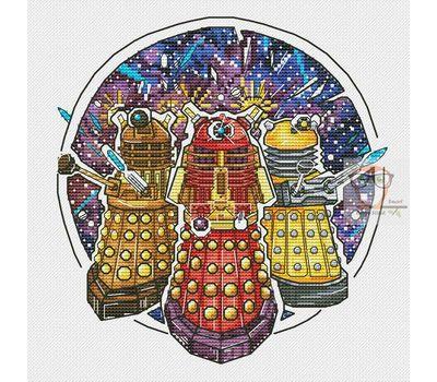 Doctor Who cross stitch chartDaleks