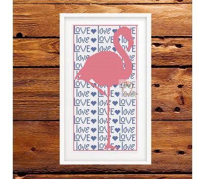 Wedding Flamingo Love free cross stitch pattern