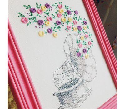 Flower Gramophone Free Cross Stitch Pattern