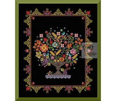 Flower Vase cross stitch pattern
