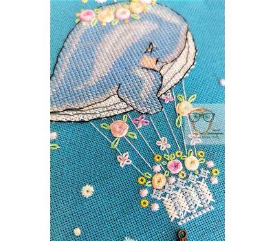 Flower Whale Cross stitch chart