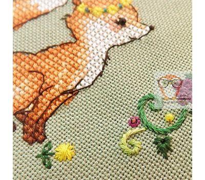 Fox and Grapes cross stitch chart